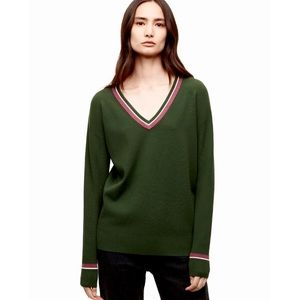 Aritzia Wilfred Free Wolter Varsity V-Neck Sweater